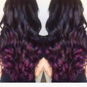 brown hair with plum