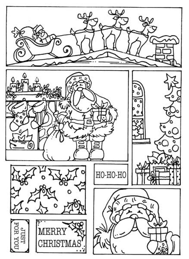 Merry Christmas Free Coloring Christmas Pages Santa