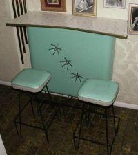 Custom 1950s Turquoise Atomic Starburst Bar   For the ...
