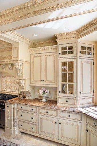 Kitchen Cabinets Antique White Prefab Kitchen Cabinet