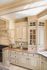 Kitchen Cabinets Antique White Prefab Kitchen Cabinet ...
