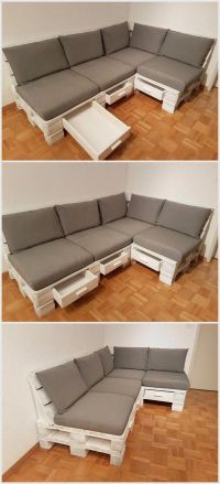 25+ best ideas about Wood pallet couch on Pinterest ...
