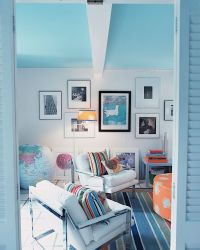 Light Blue Ceiling with white walls