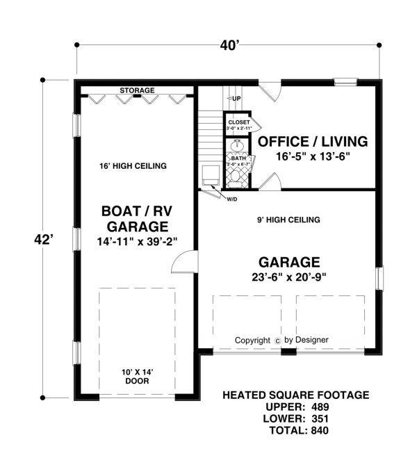 Lower Level Floorplan image of Boat-RV Garage-Office House