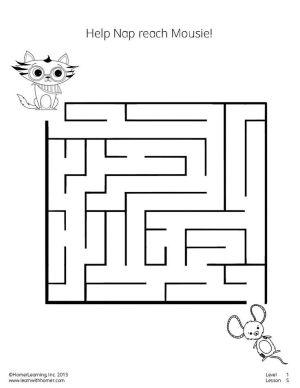 Help Nap reach Mousie in this fun maze! #printables #