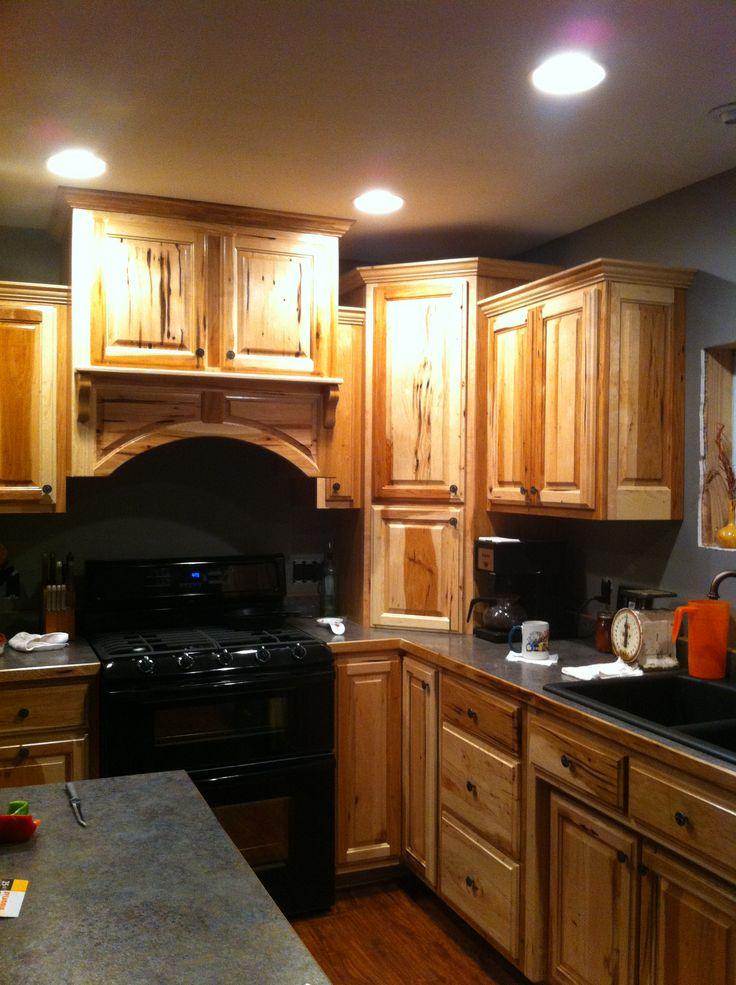 Bird Peck Hickory kitchen cabinets  At Caeli