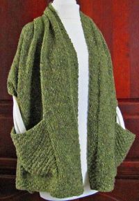 LisaKnits...Readers Wrap with pockets | knitting/crochet ...