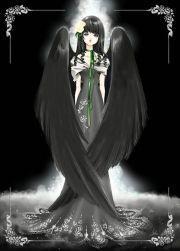 """""""black angel"""" with art nouveau"""