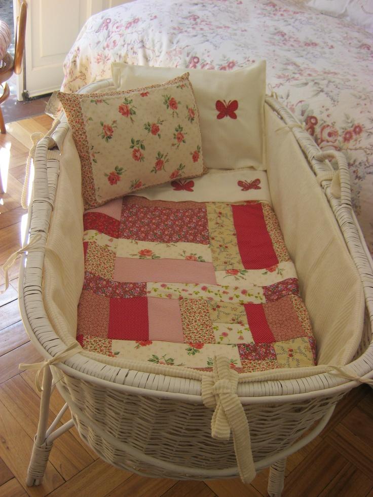 baby chair rocker wayfair lounge chairs moises de mimbre chileno, juego moisés hecho a mano | decoración infantil pinterest