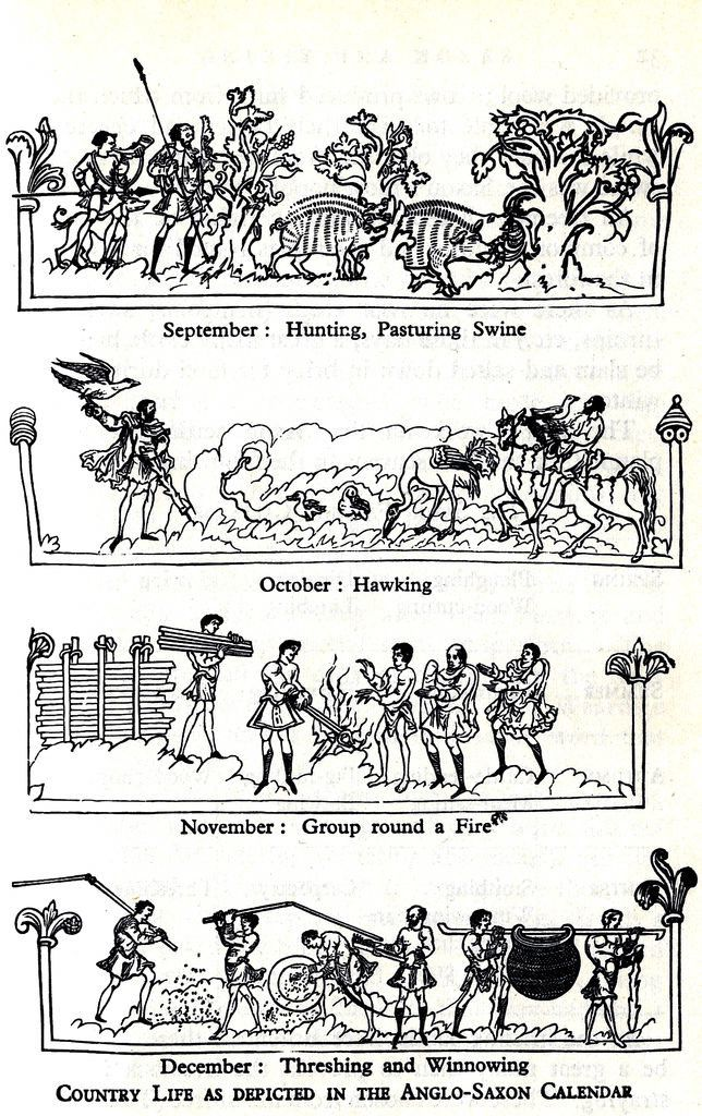 September, October, November and December from the anglo