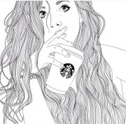 starbucks outline and drawing