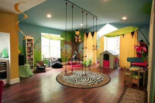 Urban Jungle Playroom Only thing that would make this