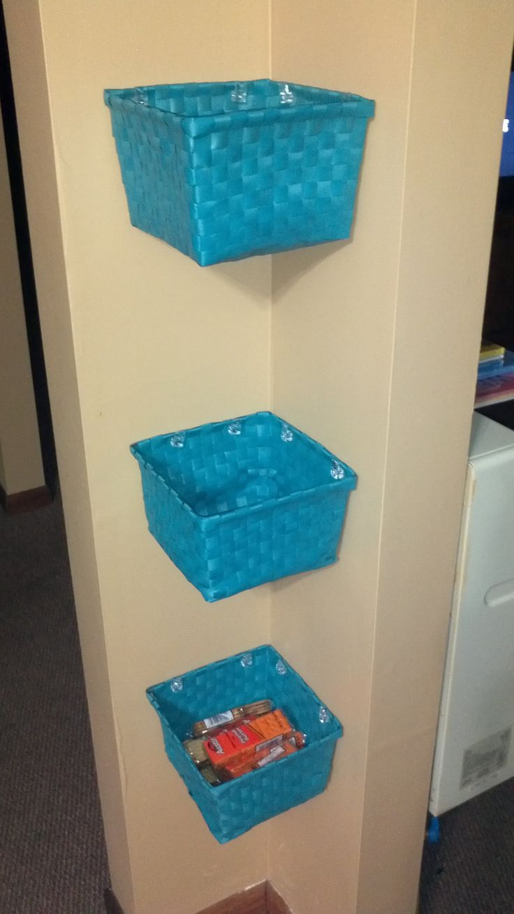 Dont like a cluttered countertop? Have a corner you can use? Use this idea to pu