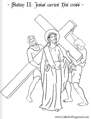 Stations of the Cross Catholic Coloring Sheets. All