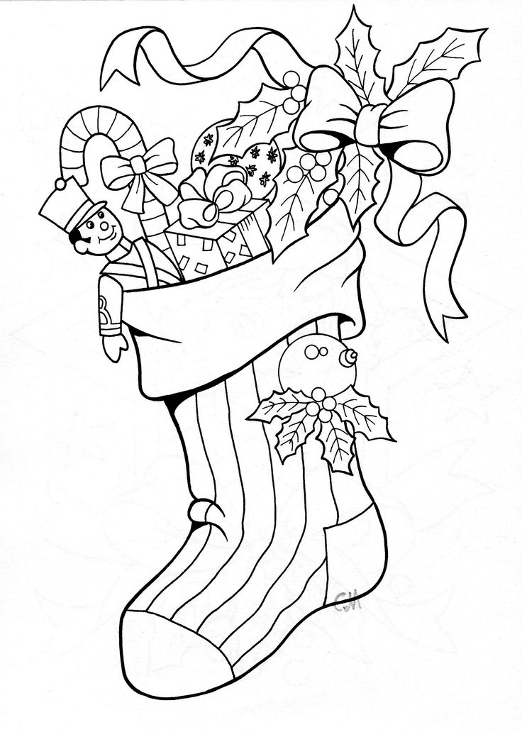 102 best images about Christmas Coloring Pages on