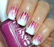 waterfall nail design art