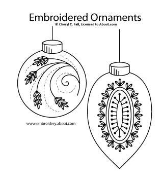 17 Best ideas about Embroidered Christmas Ornaments on