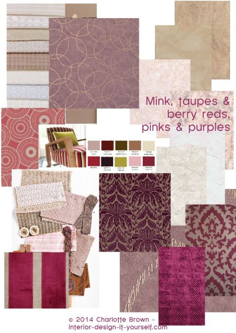 What Colors Go With Taupe  Mink BERRY SHADES  Living