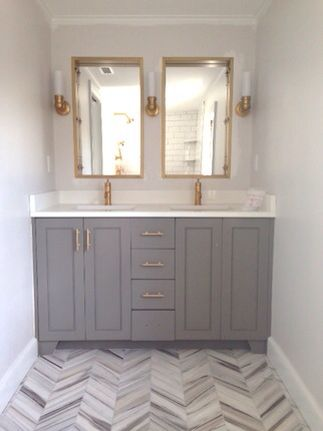 Wall color is Eider White by Sherwin Williams  New kitchen  Pinterest  The floor Vanities