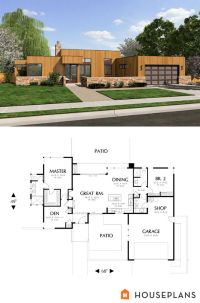 small modern house plans with garage