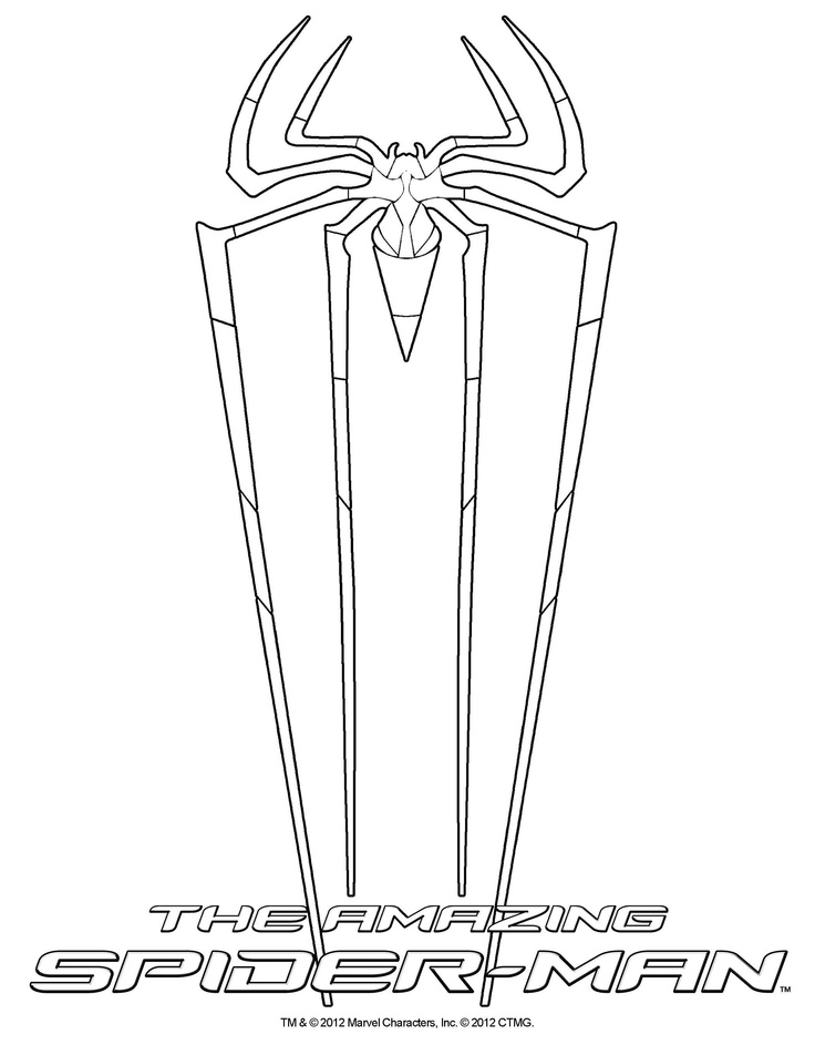 Coloring sheet! THE AMAZING SPIDER-MAN, in theatres July 3