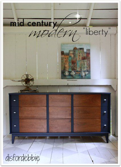 MCM dresser painted in Fusions Liberty  q is for