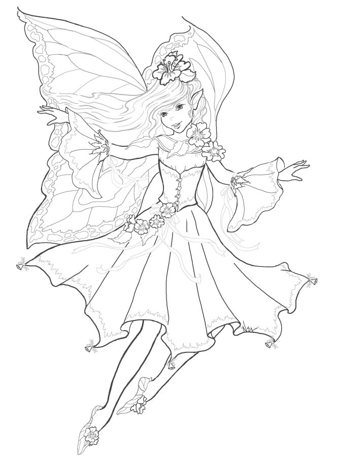 165 best images about Fairie coloring pages on Pinterest