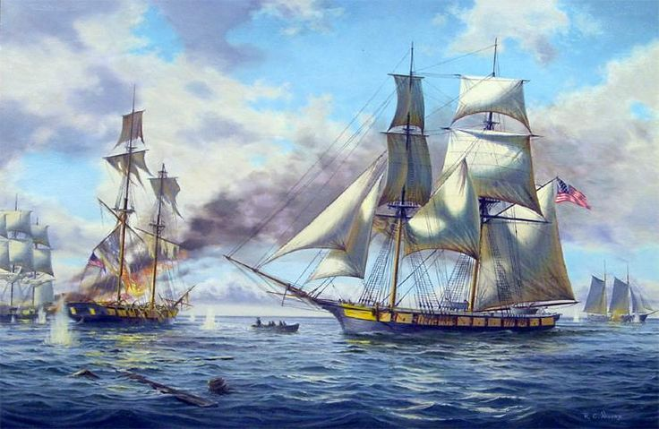 Image Detail For Oil Painting Of The Battle Of Lake Erie