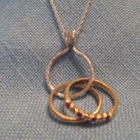Engagement Ring Holder Necklace 14k Gold Wedding Pendant ...