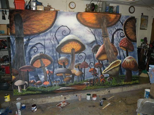 tim burton alice in wonderland mural