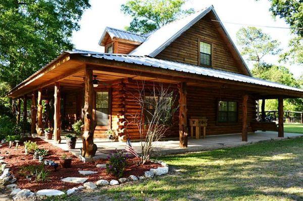 log cabin wrap porch - bing