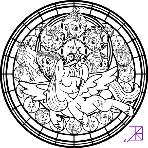 Twilicorn Coronation SG Coloring Page by Akili-Amethyst