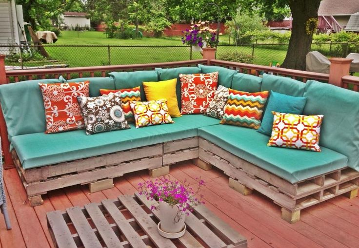 Our Version Of An Outdoor Pallet Sectional Sofa.