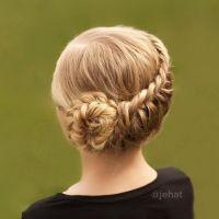 Fake Hair Braids Wrap Around Bun | braided fake hair to go ...