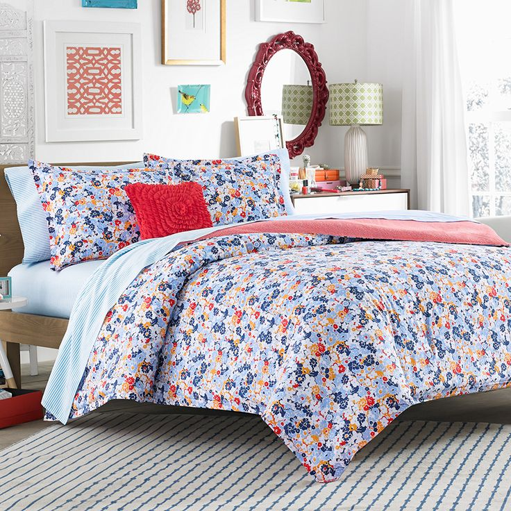 Teen Vogue Floral Frenzy Comforter Set BeddingStyle Teenvogue New Bedding Styles