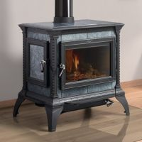 """Hearthstone's """"Heritage"""" Soapstone Wood Stove Shown with ..."""