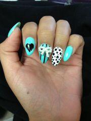 aqua turquoise stiletto nails