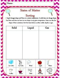 Matter Worksheets For Kindergarten - matter worksheets ...