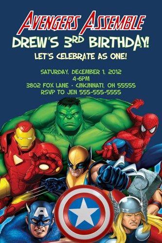 avengers birthday party invitation