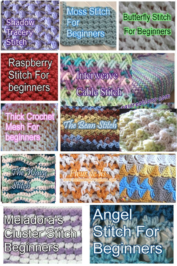 Looking for a new stitch for your next project? Take a look at some of