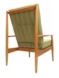 Vintage Wood Frame High Back Lounge Chair $698.00 | Mid ...
