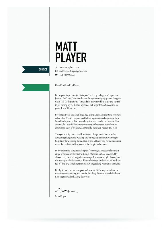 Interior Design Cover Letter Sample