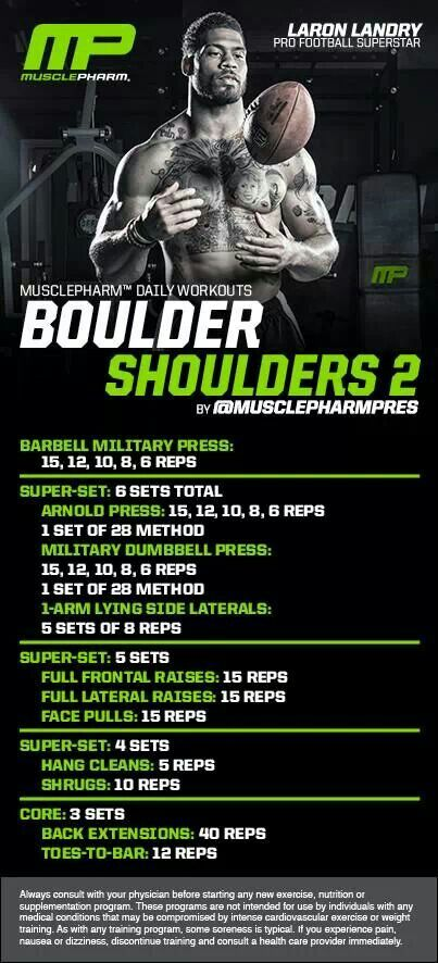 MusclePharm Boulder Shoulders 2  MusclePharm Workouts