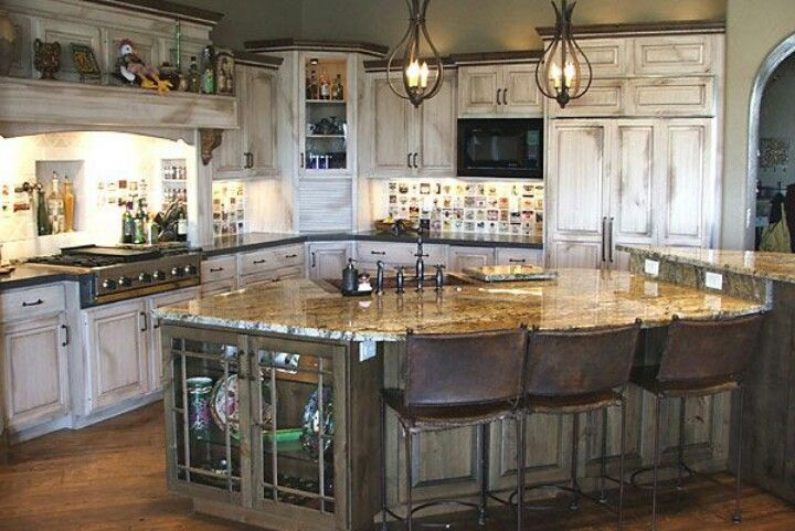 Kitchen Cabinets Rustic Whitewash