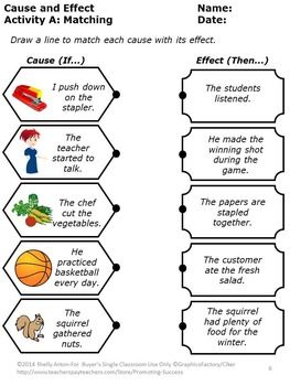 25+ Best Ideas about Cause And Effect Worksheets on