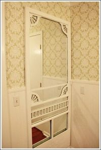 cottage decorating ideas- mirror an old screen door ...