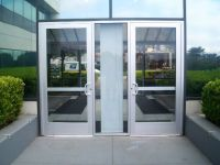 Commercial Glass Double Entry Doors with Aluminum Frames ...