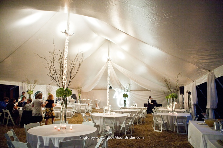 hanging kitchen light fixtures merillat cabinets ideas for wrapping tent poles in lights and tulle | bridal ...