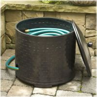 Garden Hose Container Garden Hose Storage Pot With Lid ...