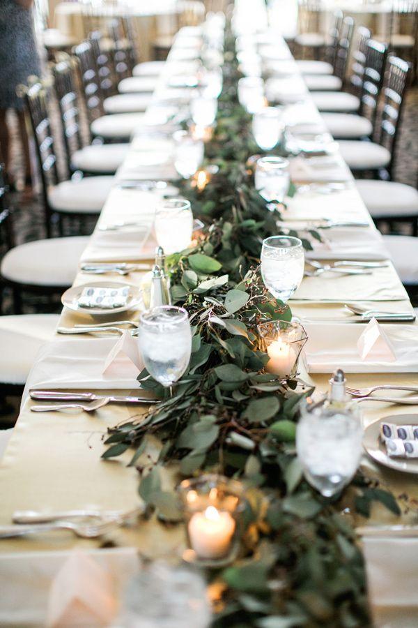 Romantic Ballroom Wedding In Tulsa Runners Light Table